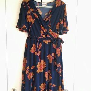 NWOT Beautiful fit & flare faux wrap dress